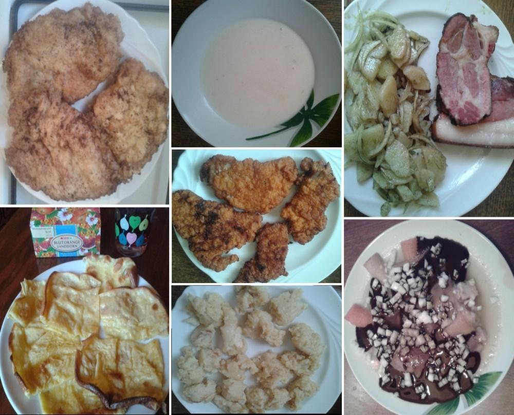 Montázs vendvidéki és vagy megyei ételekkel