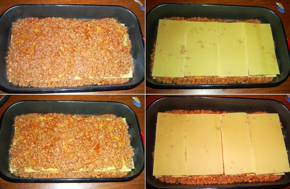 A lasagne rétegei a tapsiben