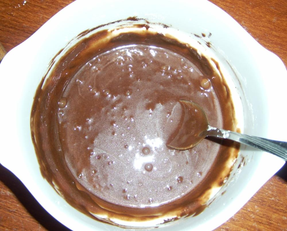 A kakaós süti nyers tésztája