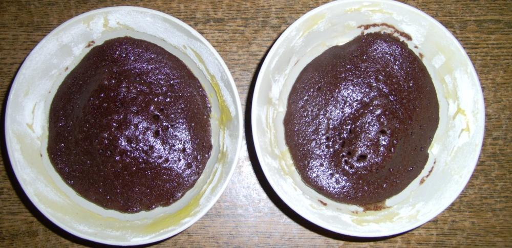 A megsült kakaós süti