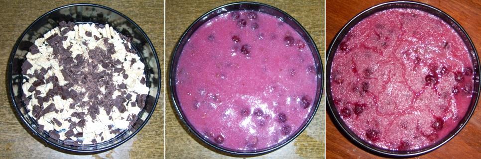 Meggyes-grízes süti készítésének folyamata