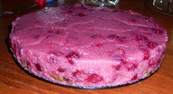 Meggyes-grízes süti