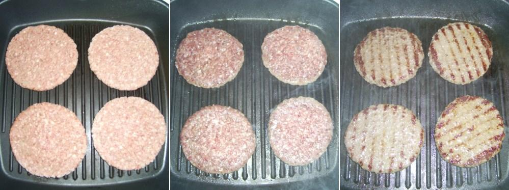 Hamburgerpogácsák sütésének menete