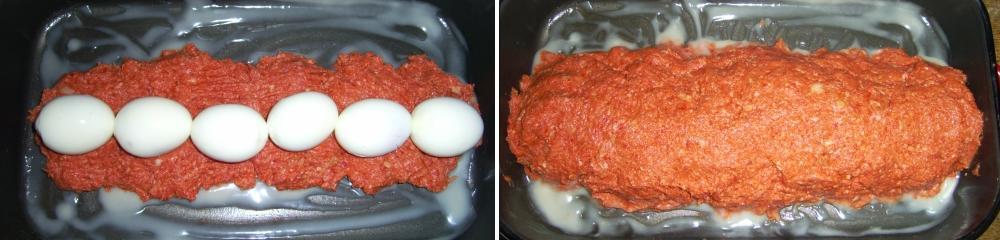 A tojás hozzáadása a vagdalthoz