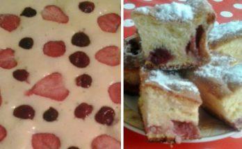 Gyümölcsös sütemény