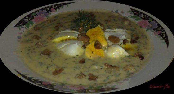 Kapor leves buggyantott tojással