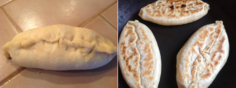 Pupusas sütés előtt és után