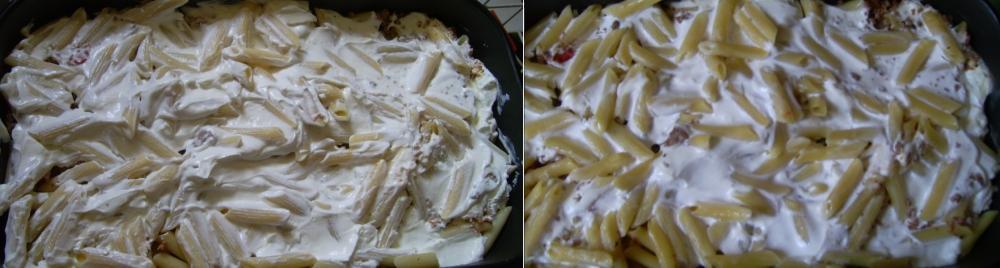 A rakott tészta sütés előtt és után