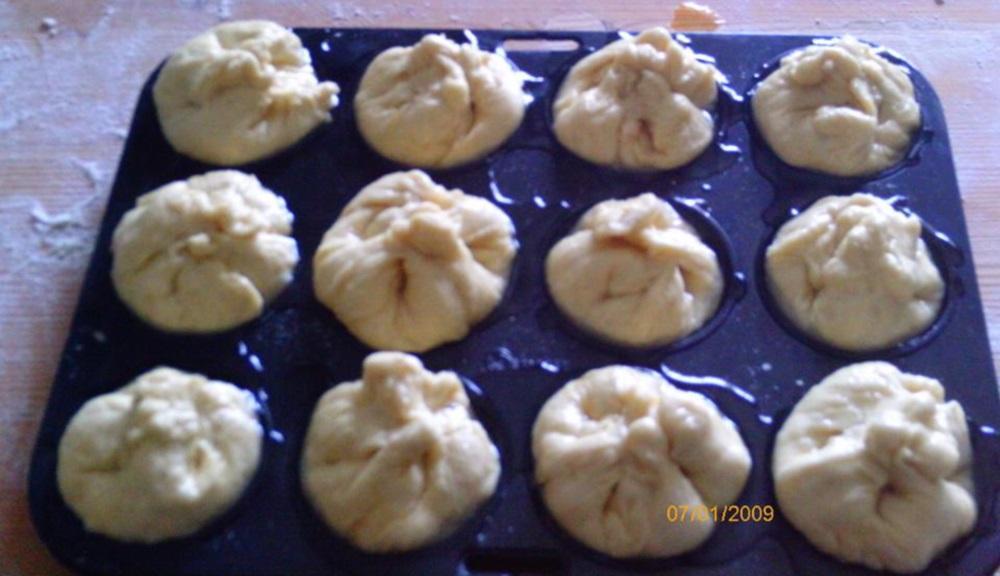 Turós muffin sütés előtt