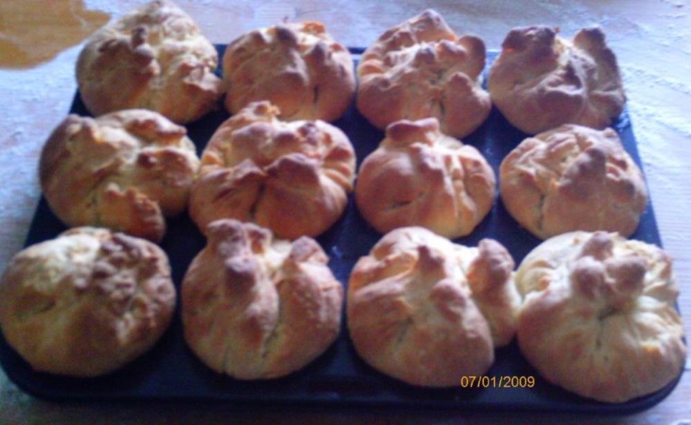 Túrós muffin sütés után