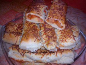 Pizzás rúd frissen sütve