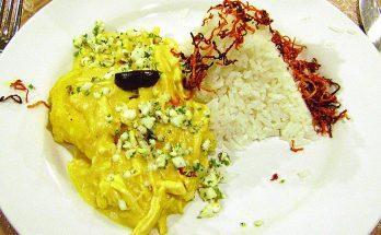 Ají de Gallina, perui csirkéből készült főétel