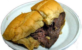 Au Jus marhahúsos szendvics