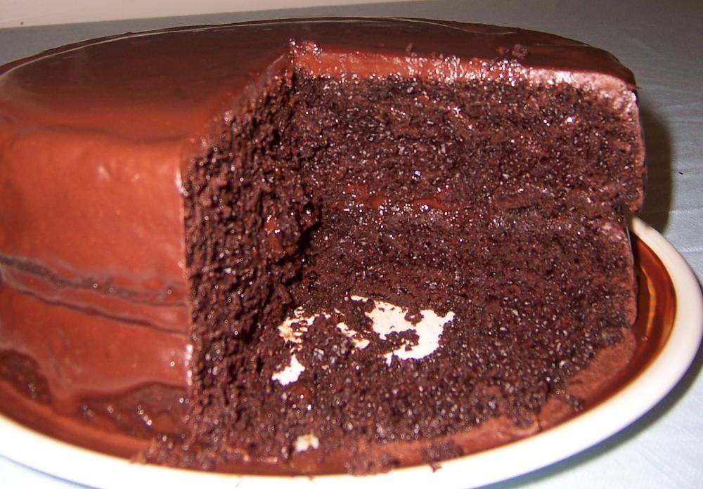 Varázslatos csokoládétorta szeletelve
