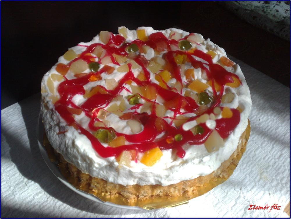 A kész gumimaci torta