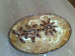 Rakott krumpli frissen sütve